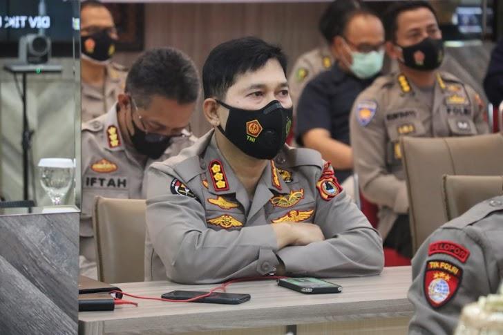 Polda Sulsel Dan Jajarannya Ikuti Launching Pelayanan Polri 110
