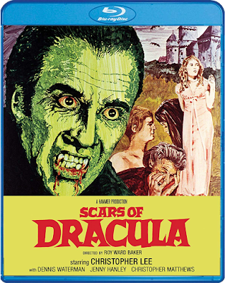 Scream Factory's SCARS OF DRACULA Blu-ray Cover Art.