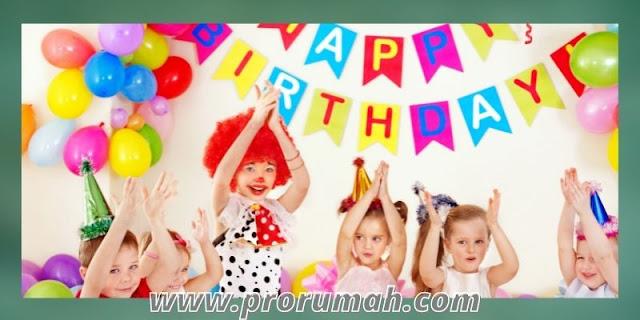 dekorasi ulang tahun di rumah - nuansa penuh warna
