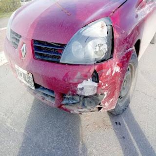 Choque en Vernet y Damiana Fique sin lesionados