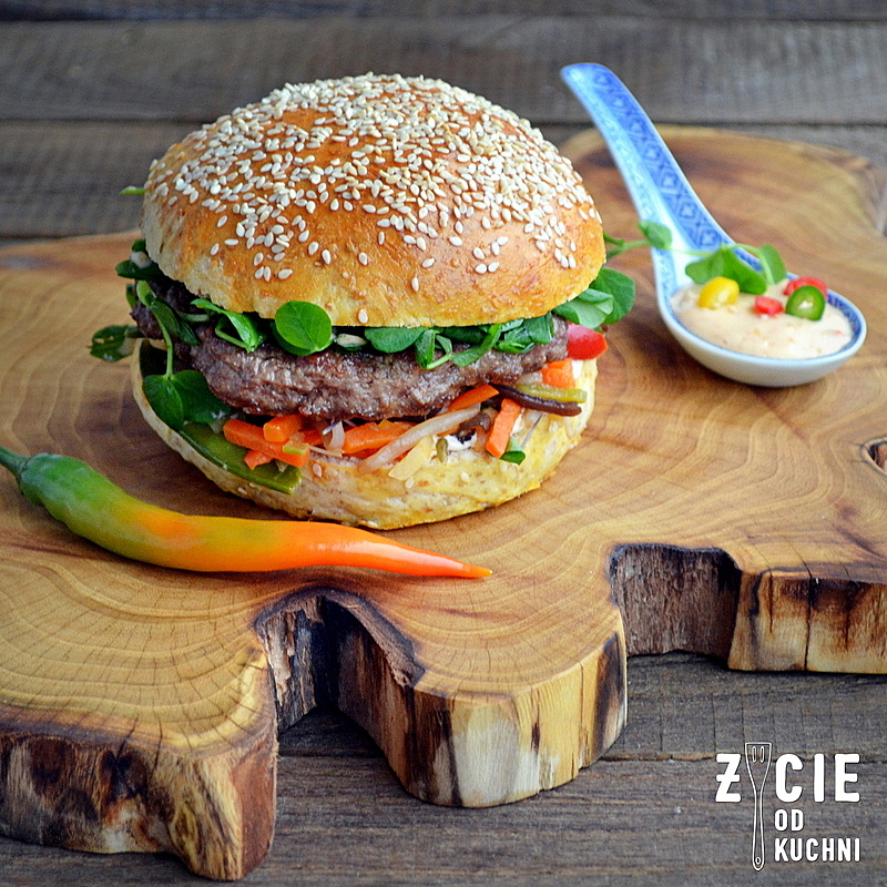 burger, domowy burger, burger wolowy, jakie mieso na burgera, poltino, bukiet chinski poltino