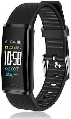 PTron Smartband  (Black Strap, Size: Free Size)