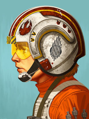 "Star Wars ""Red Five"" Luke Skywalker Print by Mike Mitchell x Mondo"