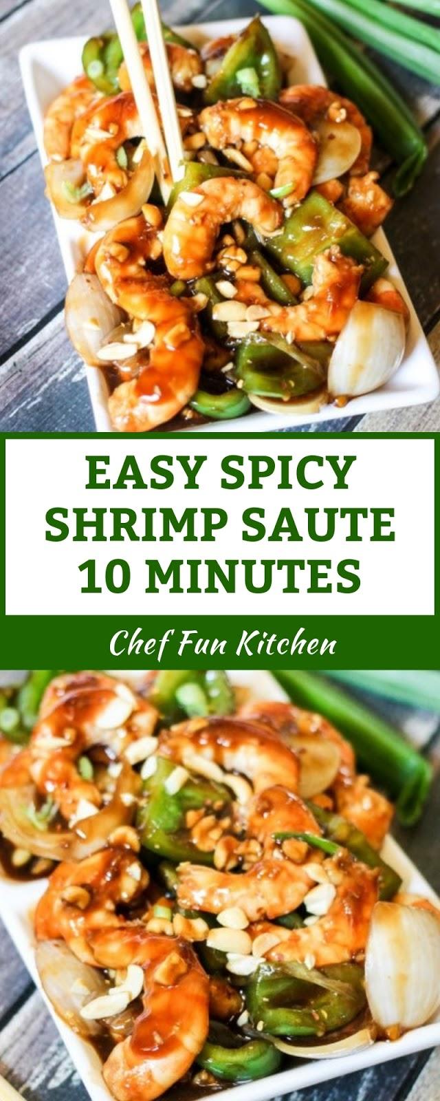 EASY SPICY SHRIMP SAUTE 10 MINUTES