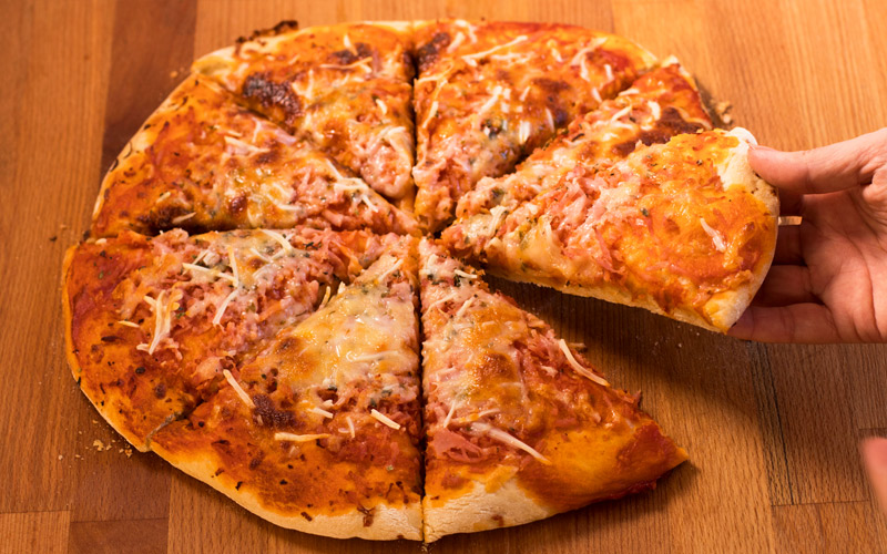 Pizza de Jamón y Queso Casera | Paso a paso
