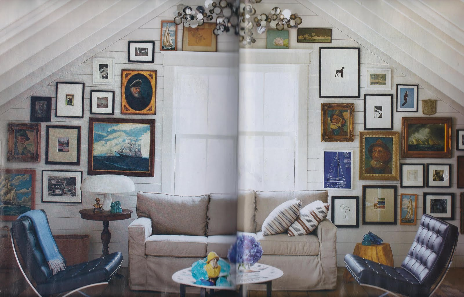 The Oakland Home Of Patrick Printy: Lou Lou Pear: Patrick Printy In Elle Decor