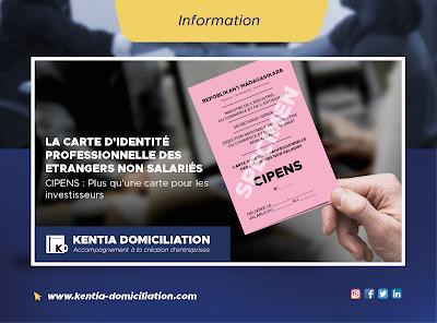 La Carte d'Identité Professionnelle des Étrangers Non Salariés.