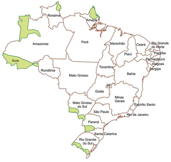 Cláudio Vicentino. Atlas histórico, 2011. Adaptado.