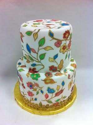 tarta de boda pintada a mano loleta linares blog mi boda gratis