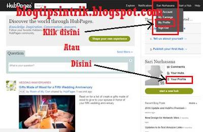 Cara membuat backlink dengan profil hubpages