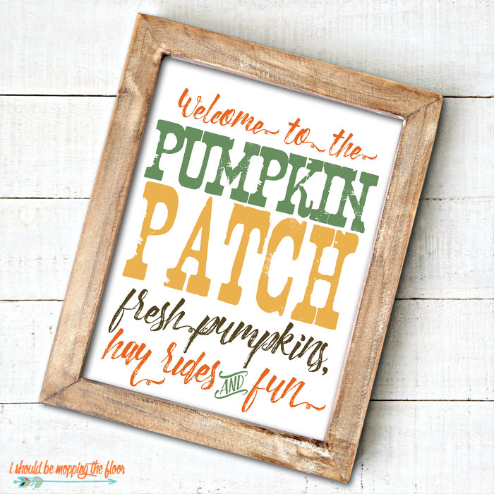Pumpkin Patch Sign Print