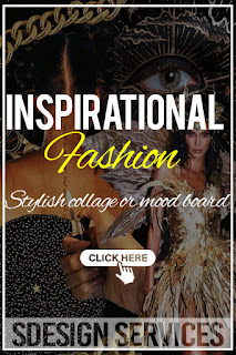 Stylish collage or mood board - fashion trends for your new collection - inspirational moodboard