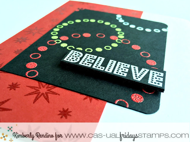 holiday | christmas | believe | handmade card | cardmaking | papercraft | cas-ual fridays stamps | kimpletekreativity.blogspot.com | clear stamps | embossing powder