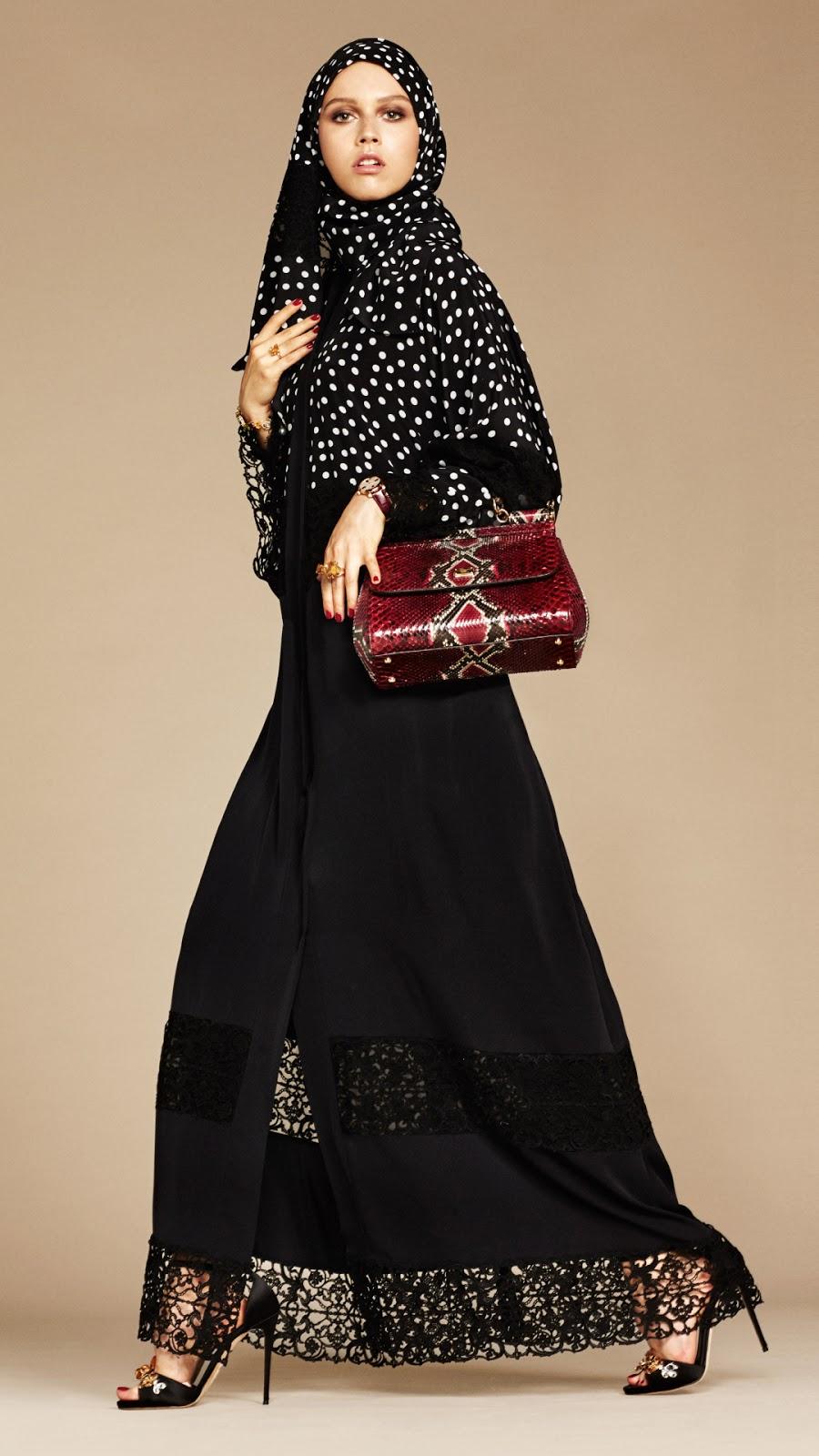 wallpaper hijab cantik manis polkadot