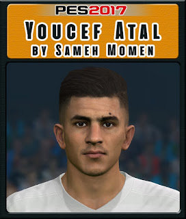 PES 2017 Faces Youcef Atal by Sameh Momen