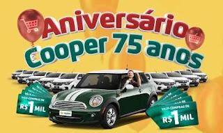 Promoção Cooperativa Cooper 75 Anos Aniversário 2019 Mini Cooper e Muitos Prêmios