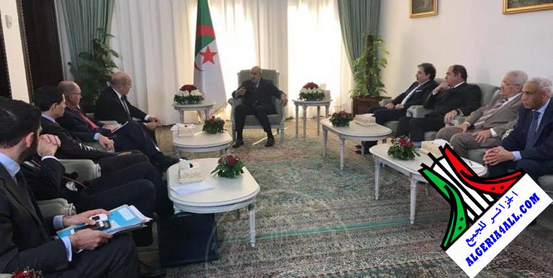 الرئيس تبون مع وزير الخارجية الفرنسي