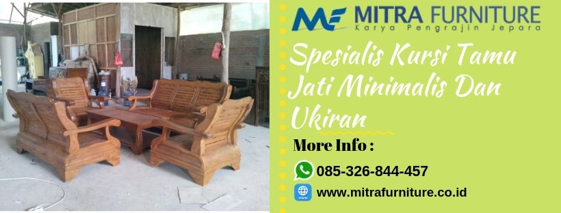 Furniture Kursi Tamu Jati Minimalis