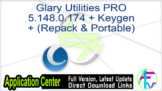 Glary Utilities PRO 5.148.0.174 + Keygen + (Repack & Portable)