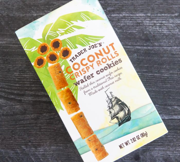 Trader Joe's review: Coconut Crispy Rolls Wafer Cookies