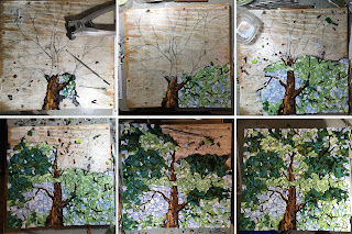 tree mosaic smalti forest progress orsoni glass blarney castle ireland italian italy