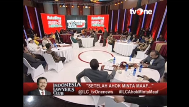 "Dinilai Bernuansa SARA, KPI Layangkan Peringatan Tertulis Pada ILC TV ONE edisi ""Setelah Ahok Minta Maaf"""