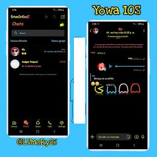 Packman IOS Theme For YOWhatsApp & Fouad WhatsApp By Candy Mery