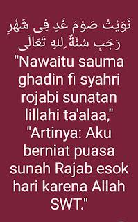 bacaan niat puasa Rajab