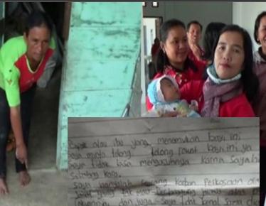 Warga Siborongborong Temukan Bayi di Depan Pintu Dan sepucuk Surat