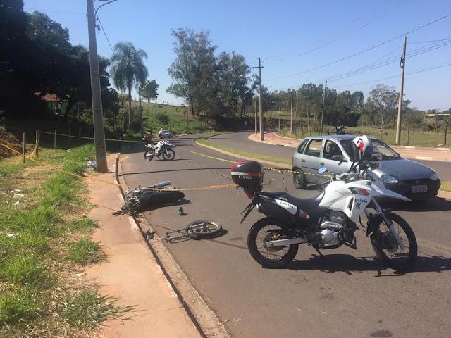 Motociclista perde o controle da direção  bate em poste e morre em acidente Pres Prudente