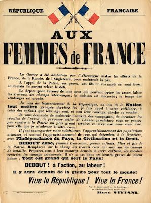 affiche 1914 aux femmes de france