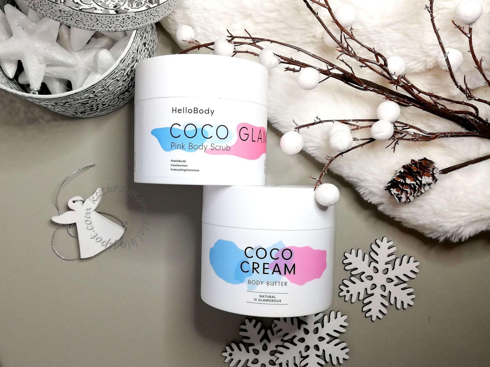 Pielęgnacja ciała z HelloBody: peeling do ciała Coco Glam oraz masło Coco Cream