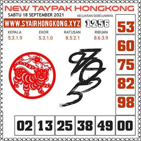 Prediksi New Taypak Hongkong Sabtu 18 September 2021