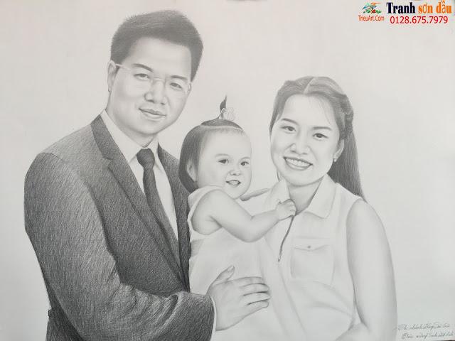 vẽ chân dung chì