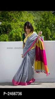 Khadi Cotton Tassel Sarees