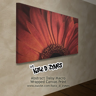Daisy flower photographic wall art wrapped canvas