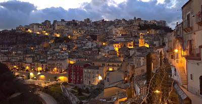View of Ragusa Superiore from Hotel Sabbinirica.