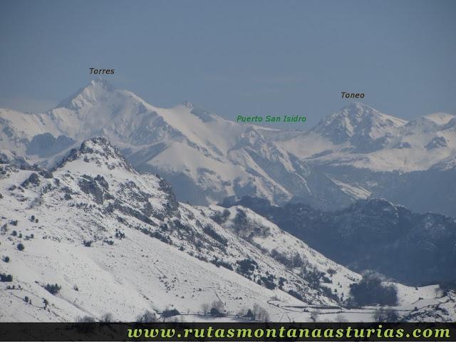 Vista de Torres y Toneo desde Burra Blanca