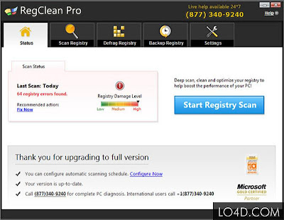 Full RegClean Pro 6.1 Screenshot