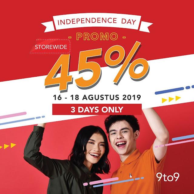 #9to9 - #Promo Independence Day Diskon Hingga 45% (16 - 18 Agustus 2019)