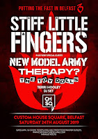 Stiff Little Fingers August 2019 Belfast tour poster