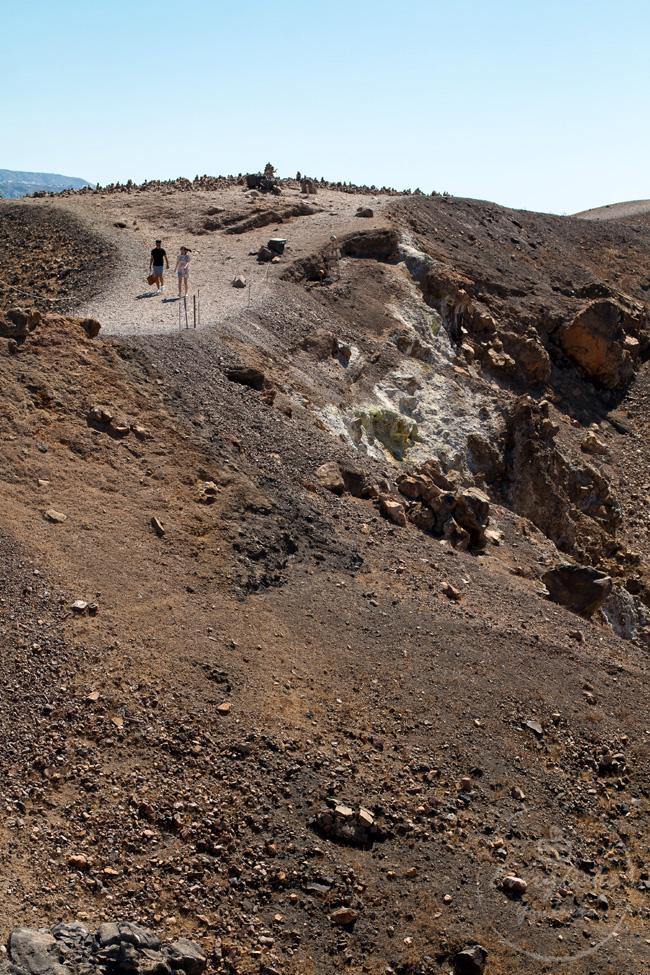 Santorini wulkan Nea Kameni