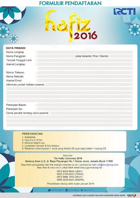 Audisi Hafiz Indonesia 2016 ASEAN