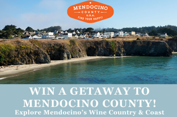 Yorkville Cellars is giving away a getaway trip for two to the expansive Mendocino Wine County & Coast, free wine glasses or even a wine suitcase!