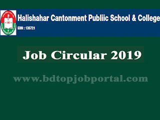 Halishahar Cantonment Public School & College Job Circular 2019