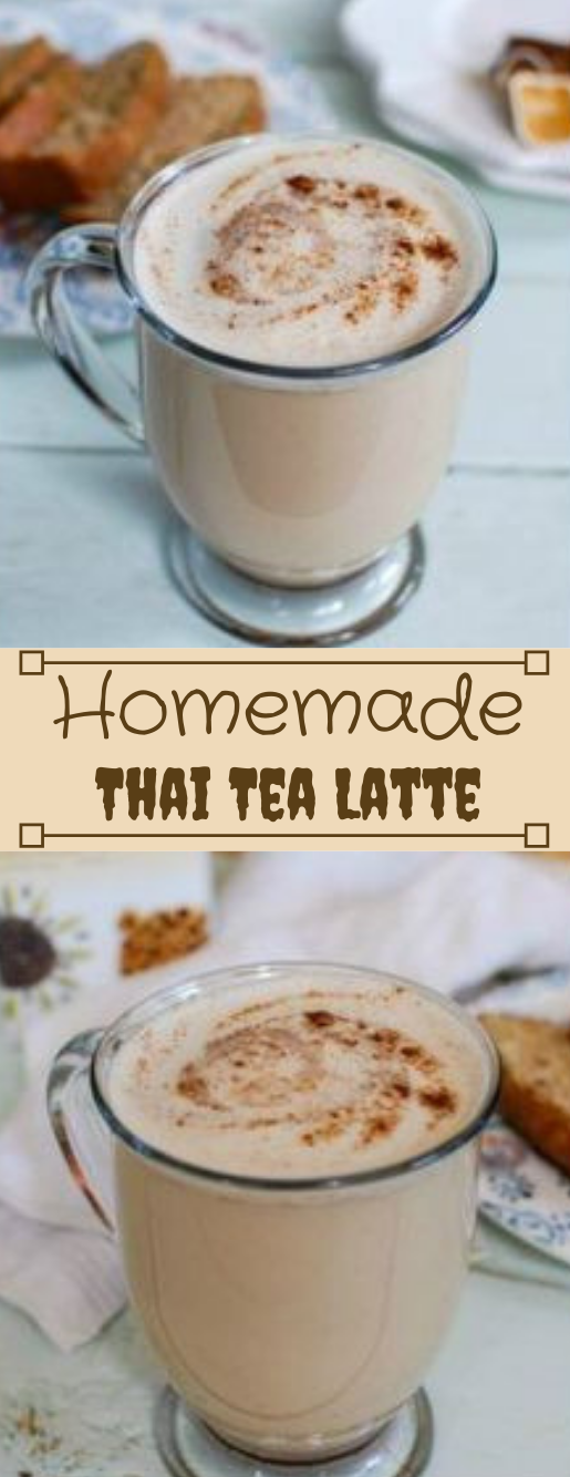HOMEMADE CHAI TEA LATTE #homemade #drink #latte #party #hotchocolate
