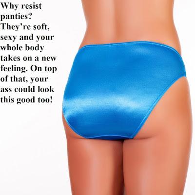 Wearing Panties - Sissy TG Caption