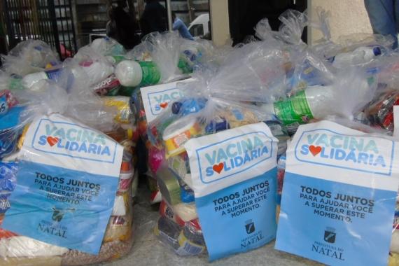 Prefeitura arrecada mais de 15 toneladas de alimentos com Campanha Vacina Solidária