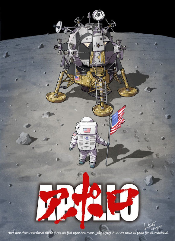 Apollo 11 Moon Landing ,July 20 1969 - Illustration Kiichi Kiichiglad1