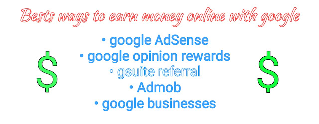 Make money with google, money with google, income from google